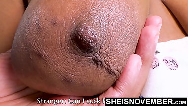 60fps Huge Brown Breasts Areolas Licked By Horny Old Man