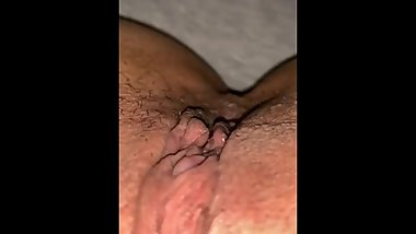 Teen showing off clit