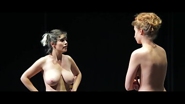 French theatre with very sexy naked girls