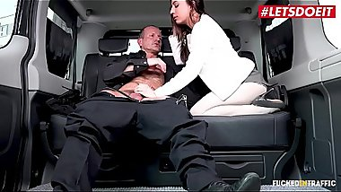 LETSDOEIT - Horny Brunette Therese Bizzare Fucked Hard In A Czech Taxi