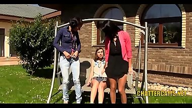 Lesbian Babes Outdoors Threesome Golden Shower Fetish