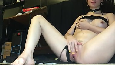 Petite Goth Plays With Herself, No Finish