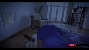 Paying visit to DADDY'_s cock while sleep
