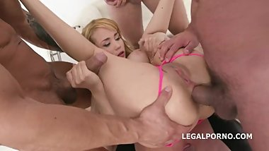 LegalPorno - Natasha Teen - Blonde-Monsters Disk Triple Anal, Facial,Gum