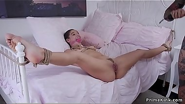Milf trains step daughter for anal