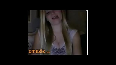 omegle win 004 cute blonde licking boobs