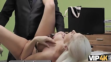 VIP4K. Tanned beauty passes dirty porn casting in the loan office