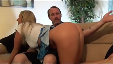 Daddy bent me over the couch and fucked me good