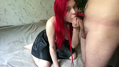 DEEPTHROAT BLOWJOB AND ASS LICKING DOMINATION WITH FUCKING SLAVE