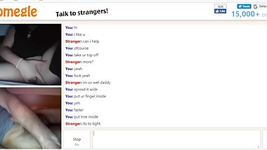 Horny girl masturbates with me on Omegle