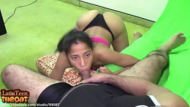 LatinTeenThroat - Doggy Blowjob