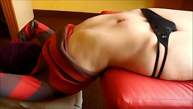 super sensual belly and tied woman Fantasy of Paula navel play