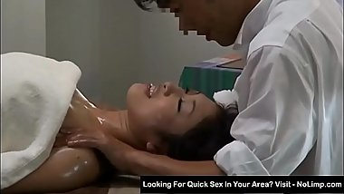 oil massage to a milf