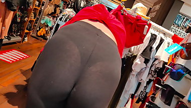 Blonde teen thong spandex