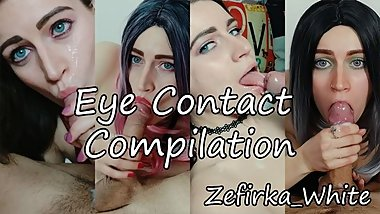 Blowjob Eye Contact Compilation - Amateur Teen Zefirka