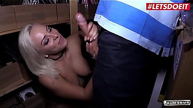 LETSDOEIT - Blue-Eyed German Blonde Fucked In The Sex Toys Warehouse