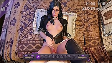 The Witcher 3 - Yennefer Porn Fucked Big Cock Hentai HMV