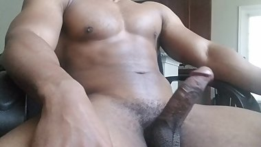 College jock edging Big black dick
