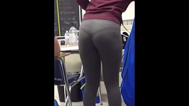 Visible Thong Line in Class