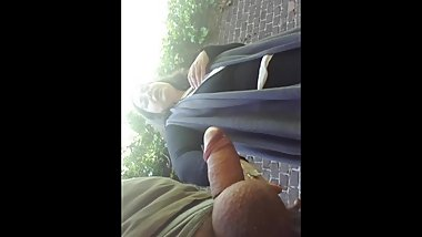 She kiss my gland and big eggs in pubblic park dickflash