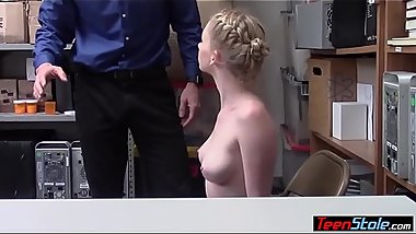 Pale skinned jewelry thief strip searched and fucked