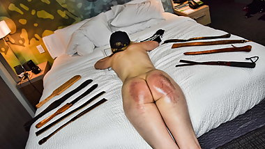 Strapping Her Naked Ass! - (Spanking)