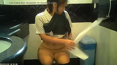 Sg teen in uniform toilet T1