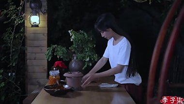 AferWear : Beautiful Asian Girl Dealing With Cherry.