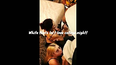 White Thots Came To The Hotel On College Night Wanted To Taste Bbc Together