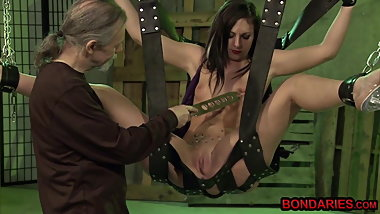 Old and young fetish hot wax play and nipple torture