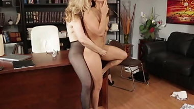 Wonderful Milf & Teen Lesbian Strap On Compilation
