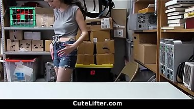 Cute Teen Caught Shoplifting Then The Officer Filled Her Mouth With Cum