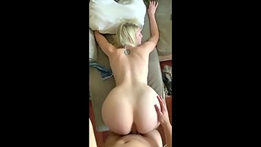 Blonde Hot GF With Back Tattoo Compilation