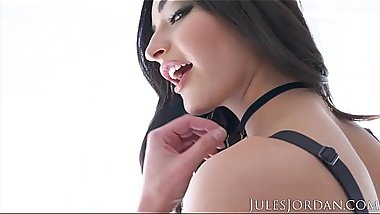 Jules Jordan - Teen slut Emily Willis has her Asshole penetrated by a big fat cock