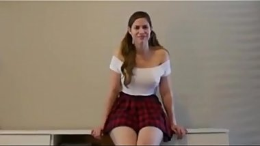 Stunning British College Bitch with Big Tits Gives Her Real American Stepbrother Hot Deepthroat Blowjob and Gets Hard Anal Pounded