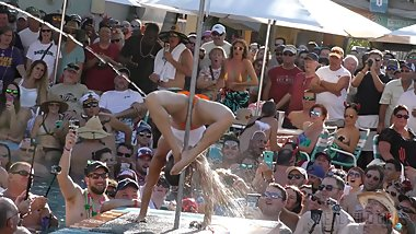 Pussy Flashing Pool Party Slut Contest 2018 Key West p1